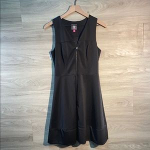 Vince camuto zip up fit and flare dress